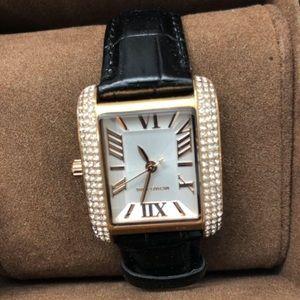 Michael Kors black leather watch